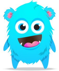 Blue Monster Transparent PNG PNG Clip art
