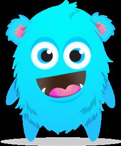 Blue Monster Transparent PNG PNG Clip art
