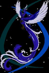 Blue Phoenix Transparent Background PNG Clip art