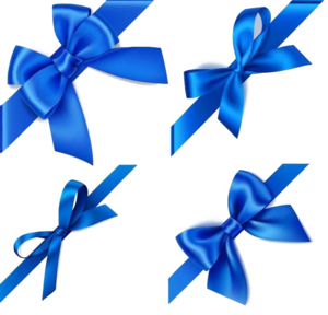 Blue Ribbon Transparent Background PNG Clip art