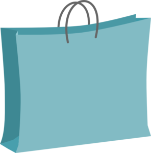 Blue Shopping Bag Clip Art PNG PNG clipart