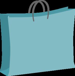 Blue Shopping Bag Clip Art PNG PNG Clip art