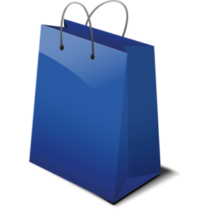 Blue Shopping Bag PNG PNG Clip art
