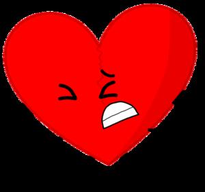 Broken Heart Transparent Background PNG image