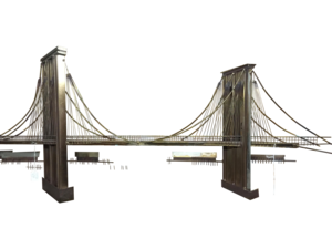 Brooklyn Bridge Transparent Background PNG Clip art