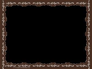 Brown Border Frame Transparent Background PNG Clip art