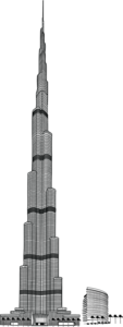 Burj Khalifa PNG Pic PNG Clip art