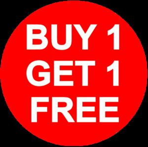 Buy 1 Get 1 Free PNG Transparent HD Photo PNG Clip art