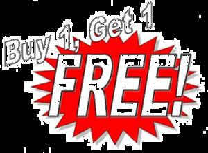 Buy 1 Get 1 Free PNG Transparent Image PNG Clip art