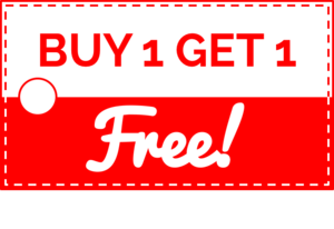 Buy 1 Get 1 Free Transparent Background PNG Clip art
