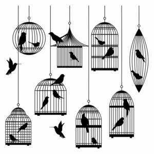Caged Bird PNG File PNG Clip art