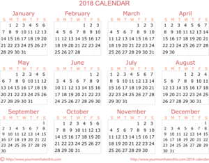 Calendar 2018 Transparent PNG PNG Clip art
