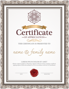Certificate PNG Background Image PNG Clip art