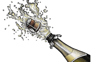 Champagne Popping PNG Image PNG Clip art