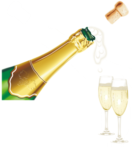 Champagne Popping PNG Pic PNG Clip art