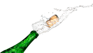 Champagne Popping PNG Transparent PNG Clip art