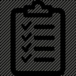 Checklist Transparent Background PNG Clip art