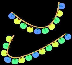 Christmas Decoration Lights Transparent Background PNG Clip art
