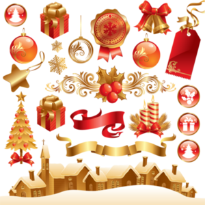 Christmas Elements Transparent Background PNG Clip art