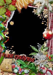 Christmas Frame Transparent PNG PNG Clip art