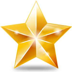 Christmas Gold Star PNG File PNG Clip art