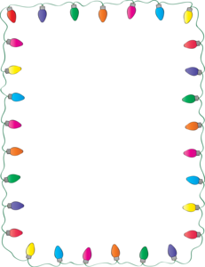 Christmas Lights Border PNG Photo PNG Clip art