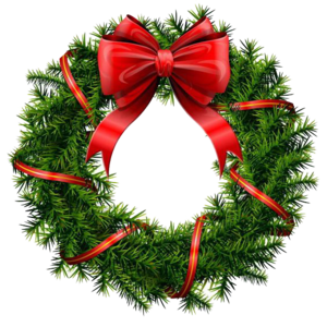 Christmas Wreath PNG File PNG Clip art