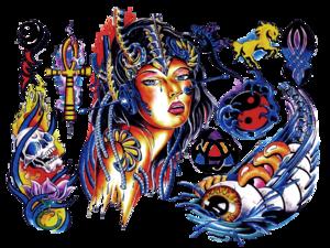 Color Tattoo PNG Pic PNG Clip art