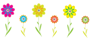 Colorful Flowers PNG Clipart PNG Clip art