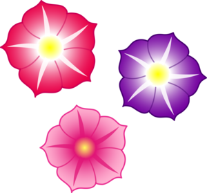 Colorful Flowers PNG File PNG Clip art