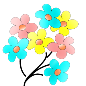Colorful Flowers Transparent PNG PNG Clip art