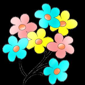 Colorful Flowers Transparent PNG PNG Clip art