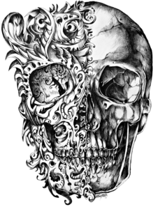Cool Skull Tattoo Design Drawing PNG PNG Clip art