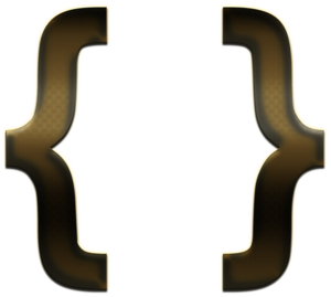 Curly Brackets PNG Transparent Image PNG icon