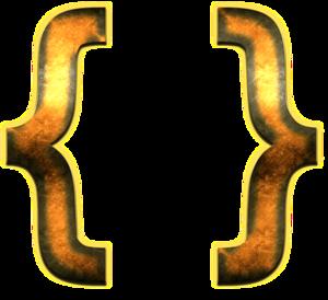 Curly Brackets Transparent Background PNG Clip art