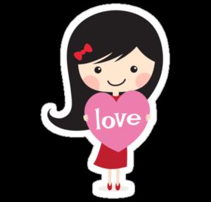 Cute Cartoon Girl PNG Free Download PNG Clip art