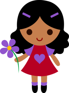 Cute Cartoon Girl PNG Transparent Picture PNG Clip art