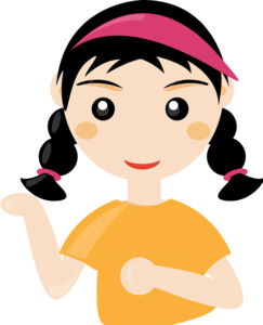 Cute Cartoon Girl PNG Transparent PNG Clip art