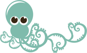 Cute Octopus PNG HD PNG Clip art