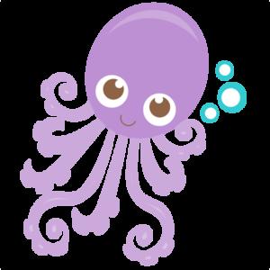 Cute Octopus PNG Pic PNG Clip art