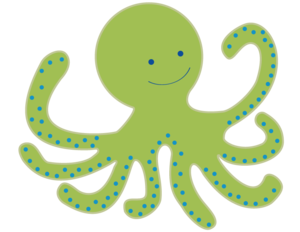 Cute Octopus Transparent Background PNG Clip art