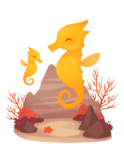 Cute Seahorse PNG Transparent PNG Clip art