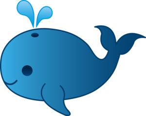 Cute Whale PNG Clipart PNG icons