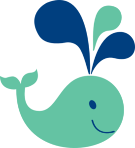 Cute Whale PNG File PNG Clip art