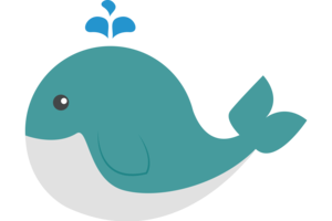 Cute Whale PNG HD PNG icon