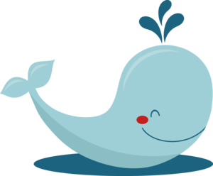 Cute Whale PNG Photo PNG Clip art