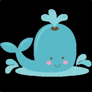 Cute Whale PNG Transparent PNG Clip art