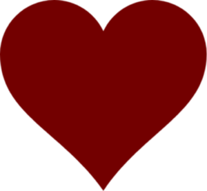 Dark Red Heart PNG Clipart PNG clipart