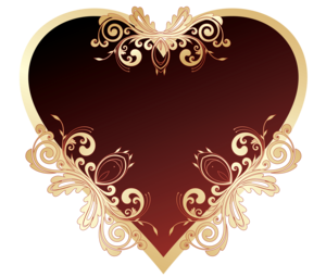 Dark Red Heart PNG File PNG clipart