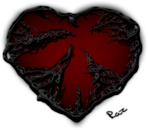 Dark Red Heart PNG Pic PNG Clip art
